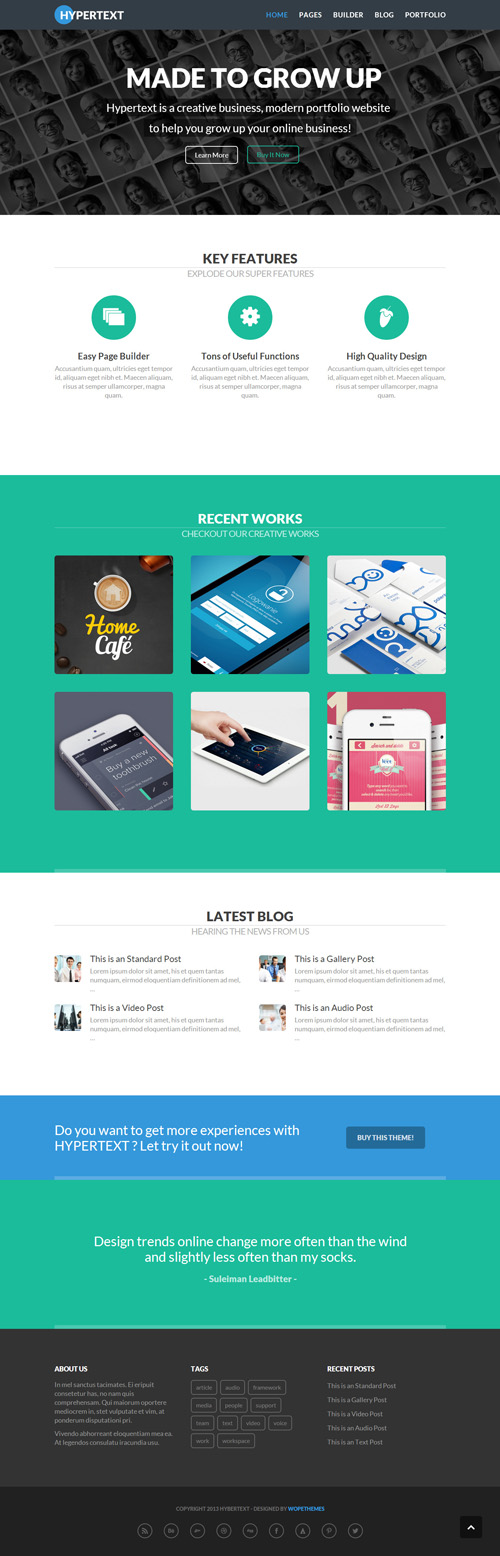 Flat WordPress Themes - 30 Creative Themes | Wordpress Themes ...
