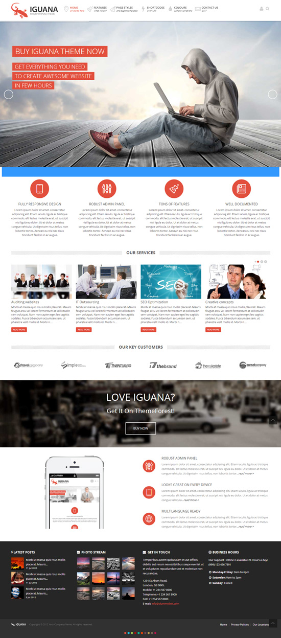 Iguana – Responsive Multi-Purpose WordPress Theme