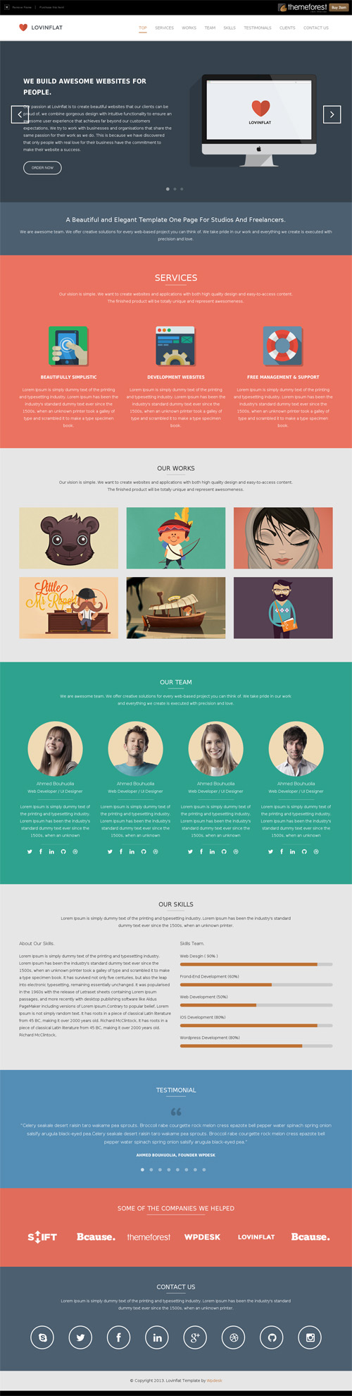 one page website - Template