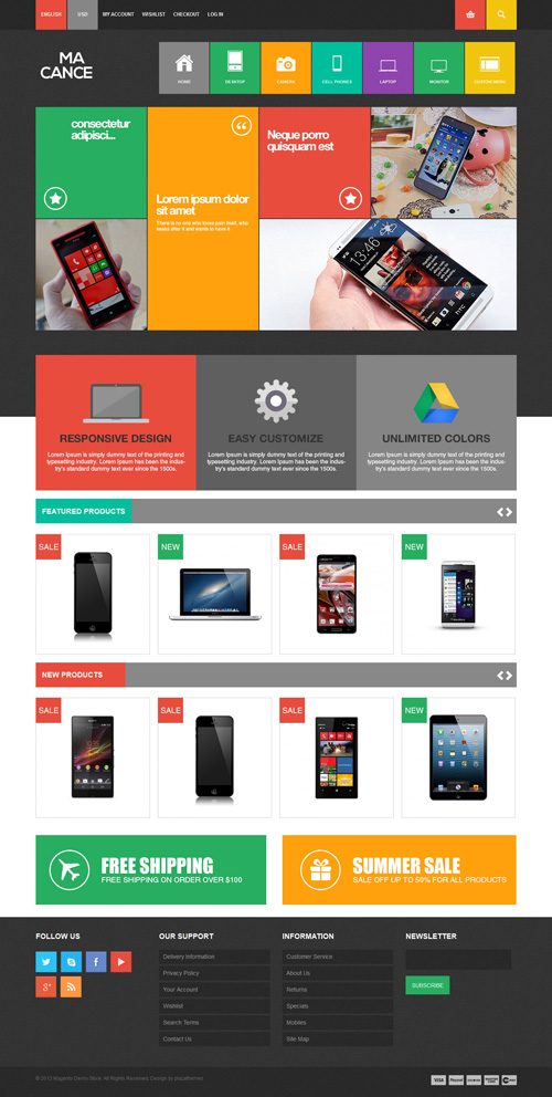 Responsive Magento Themes for eCommerce Websites | Design ...
