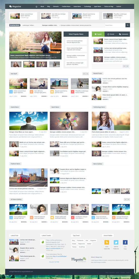 Magazine - Responsive Multipurpose WordPress Theme