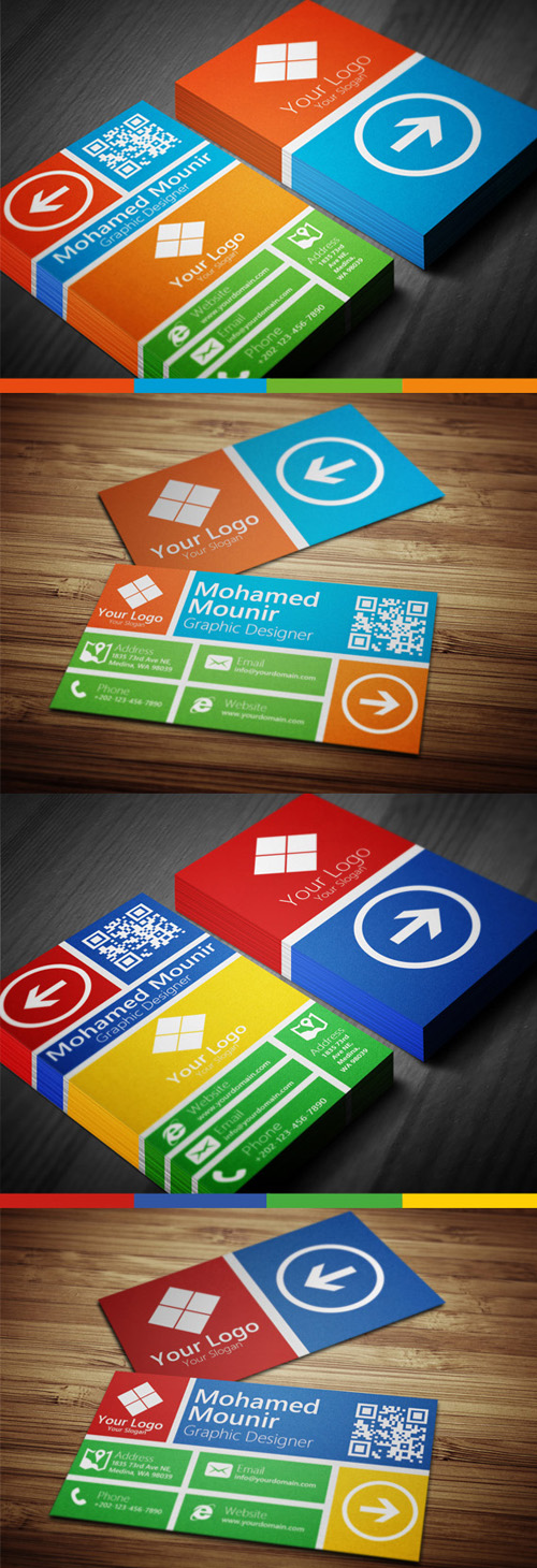 Metro Style Multipurpose Business Card