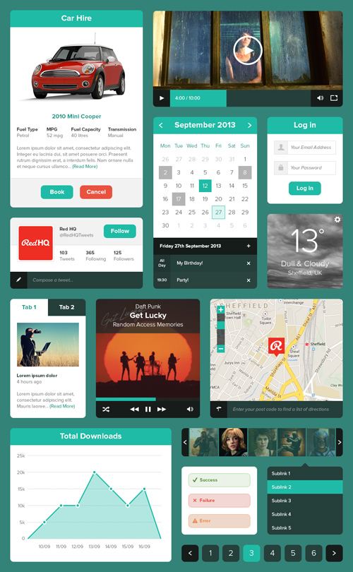 Minty Green UI Kit
