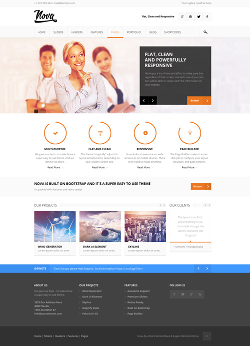 Nova - Flat and Clean Responsive Theme
