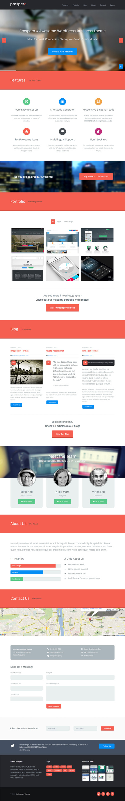 Prospero - Business WordPress Theme
