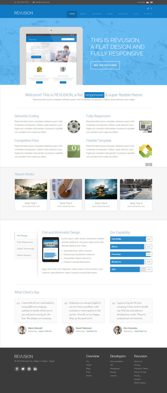 Revusion – Flat Corporate WordPress Theme