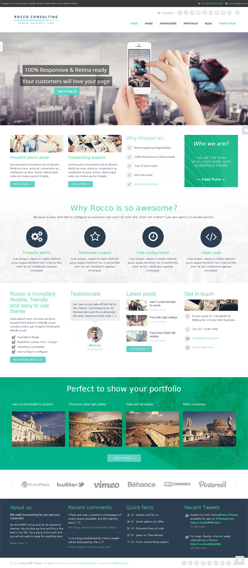 Rocco Flat Premium WordPress Theme