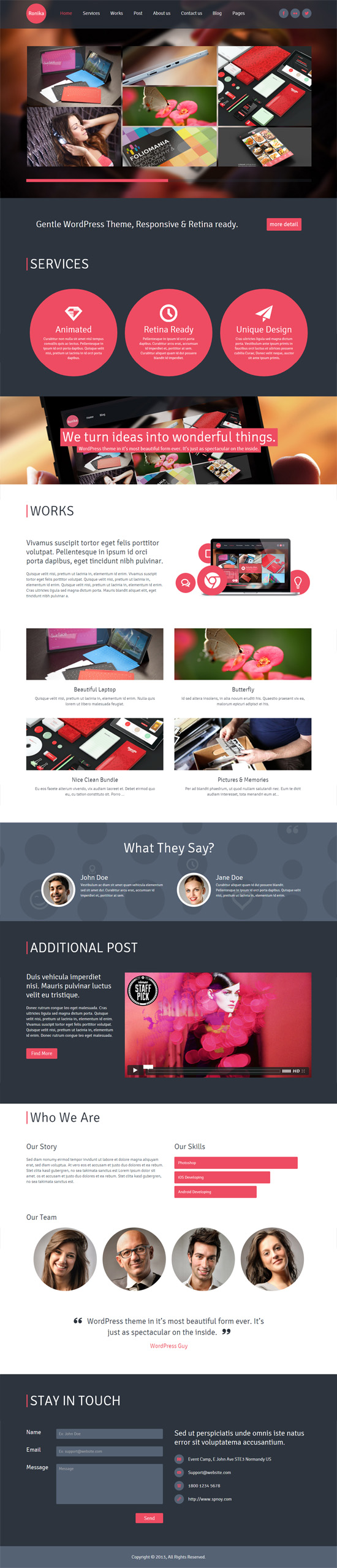 Ronika – One Page/Multi Page WordPress Theme