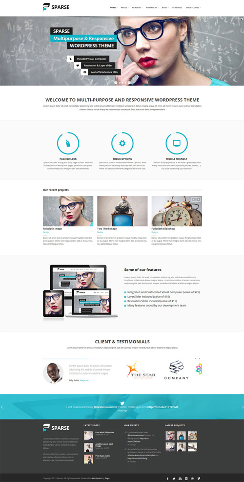 Sparse - Amazing Multi-Purpose WordPress Theme