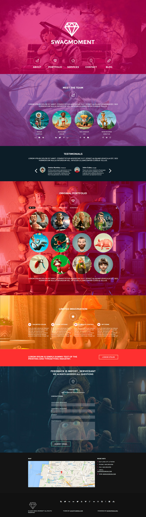 SwagMoment Parallax WordPress Theme
