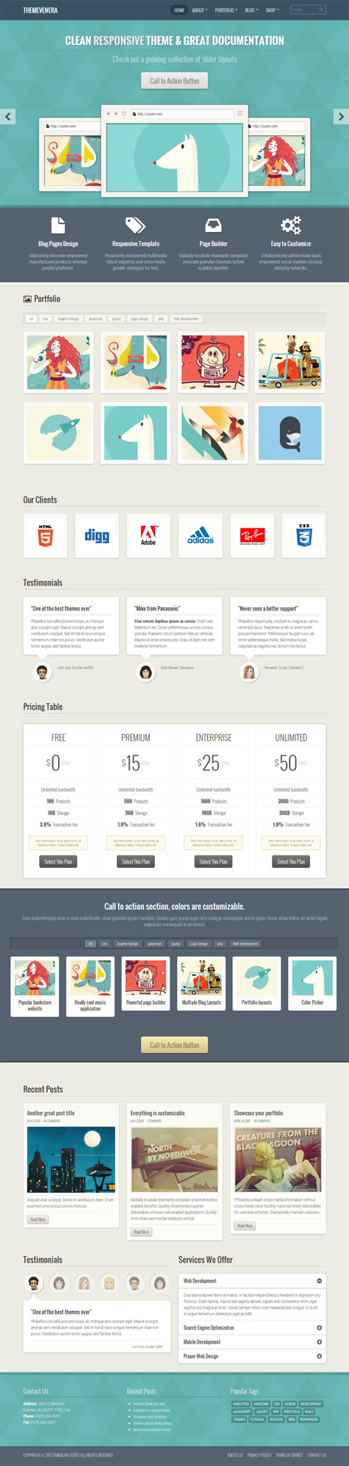 Venera – Responsive Multi-Purpose Theme