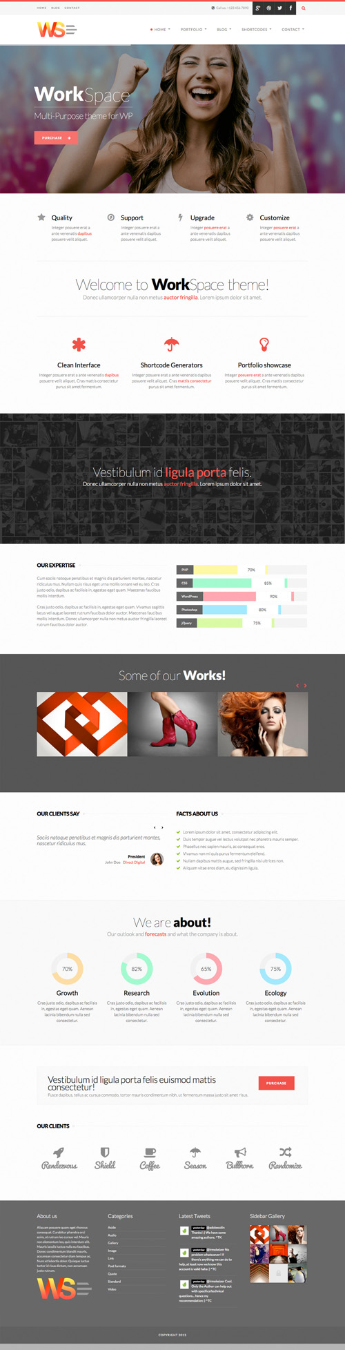 WorkSpace Multi-Purpose WordPress Theme