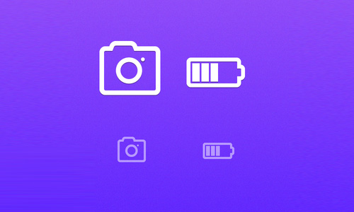 Camera and Battery Icon