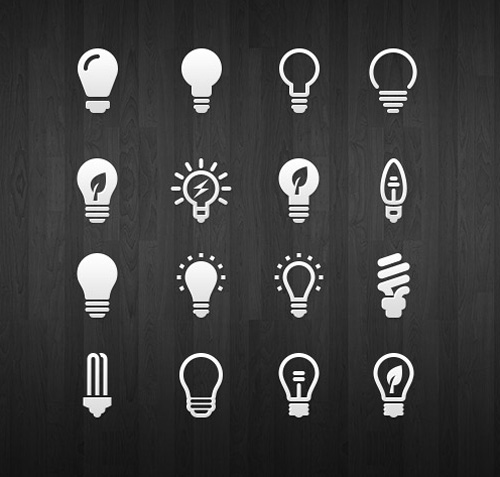 Light Bulb Icon Set