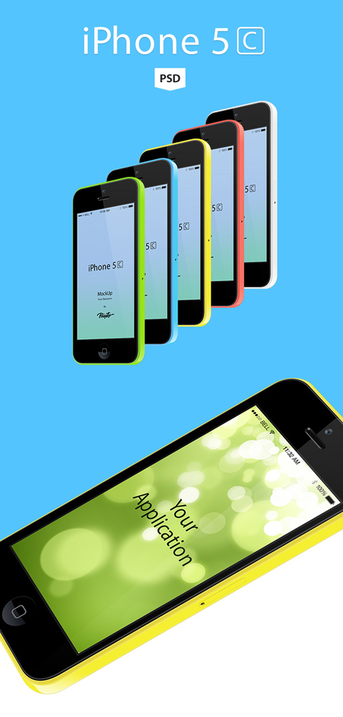 iPhone 5c free vector Free PSD File