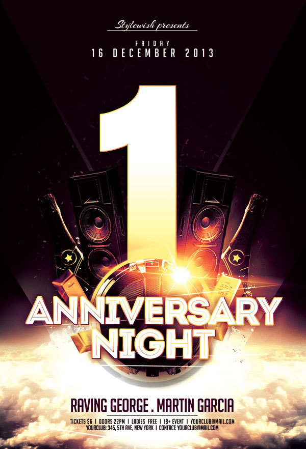 Anniversary Night Flyer