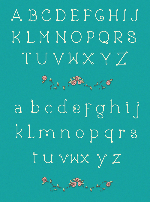 Rose Free Font Typography