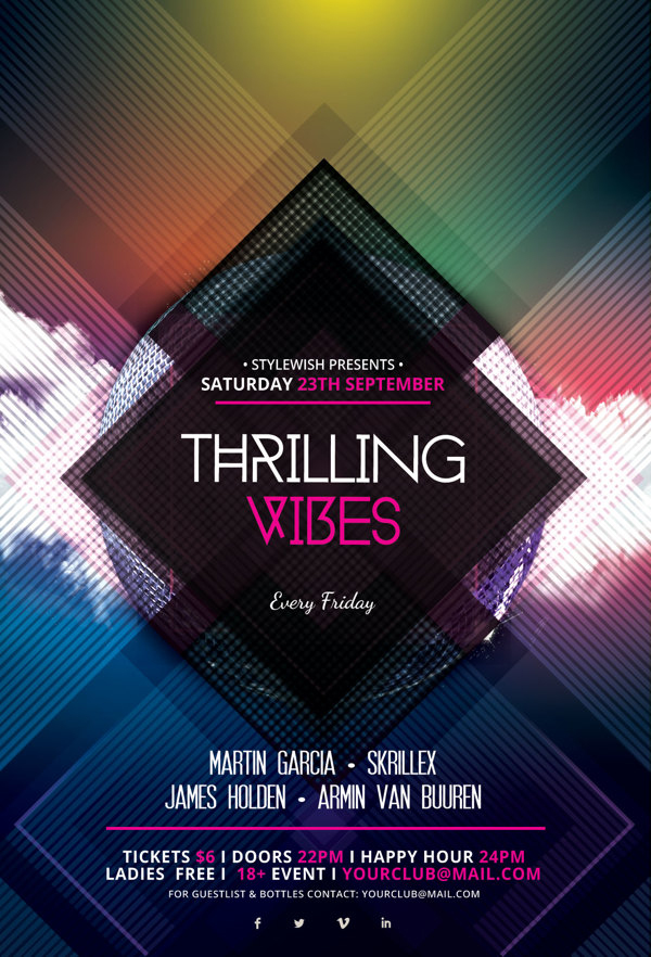 Thrilling Vibes Flyer