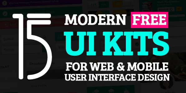 15 Modern Free UI Kits for Web & Mobile UI Design