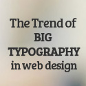 Post thumbnail of Big Typography Trend in Web Design