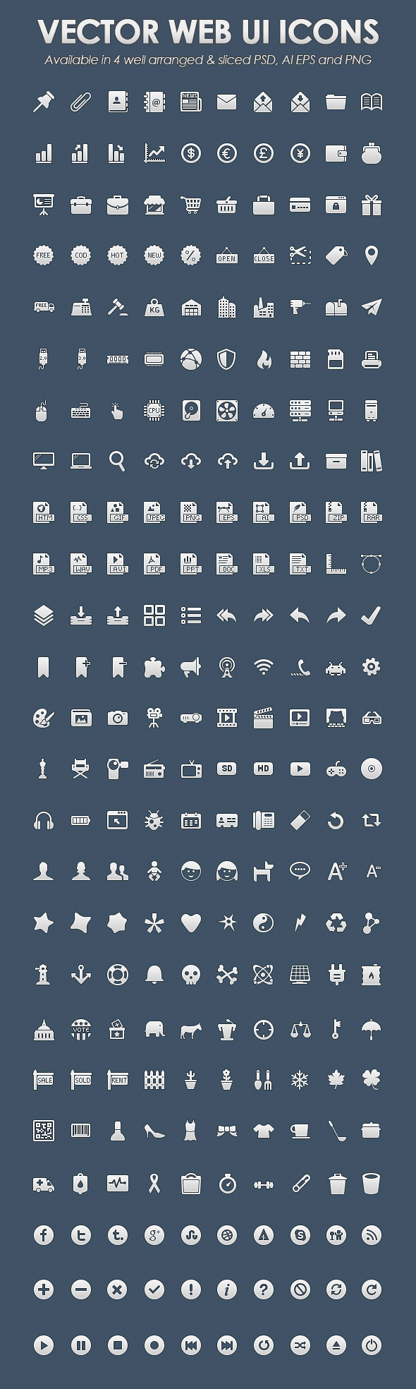 Vector web UI icons