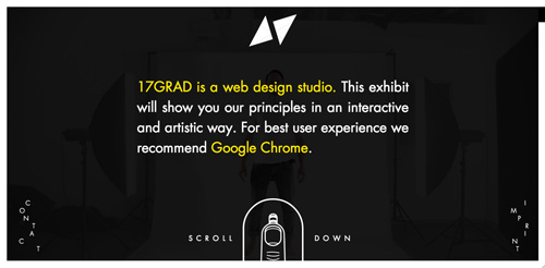 17GRAD web and graphic design agency website
