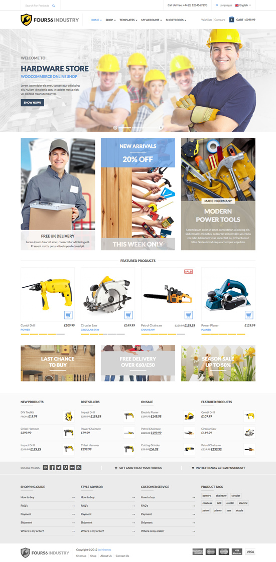 456Industry eCommerce WordPress Theme