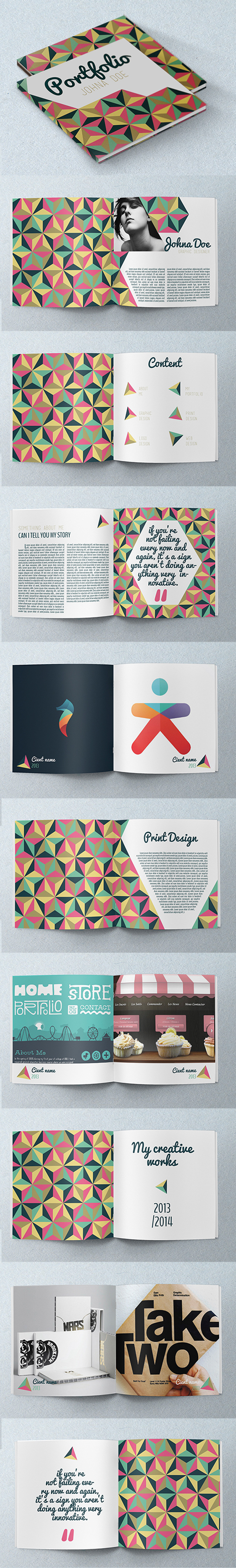 Abstract Portfolio Brochure
