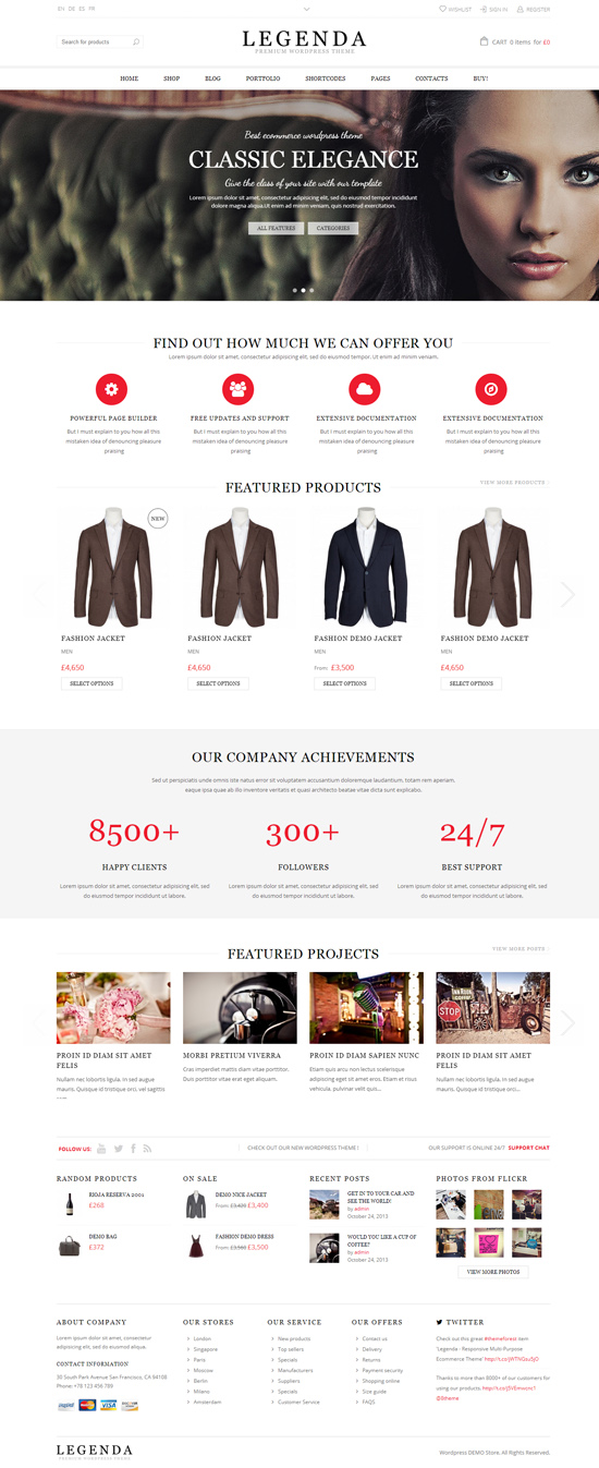 Legenda - Responsive Multi-Purpose Ecommerce Theme