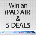 Post Thumbnail of Giveaway: Win an iPad Air & 5 Deals of Your Choice from Inky Deals!