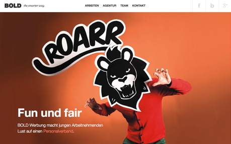 Bold web and graphic design agency website