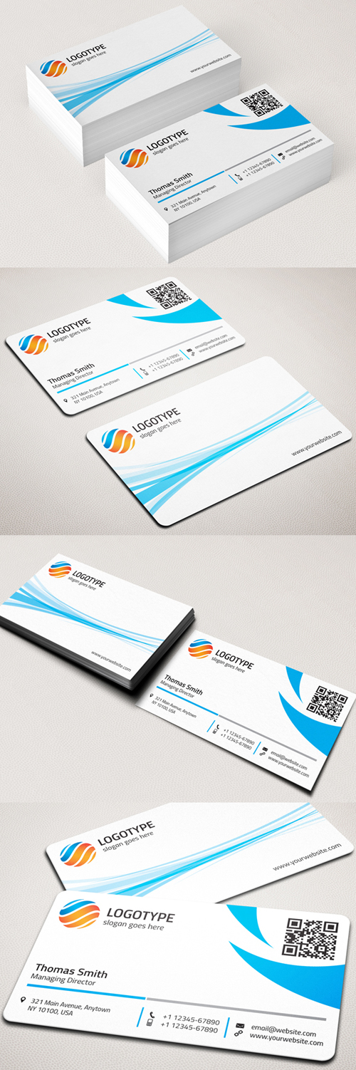 Round Corner Corporate Business Card