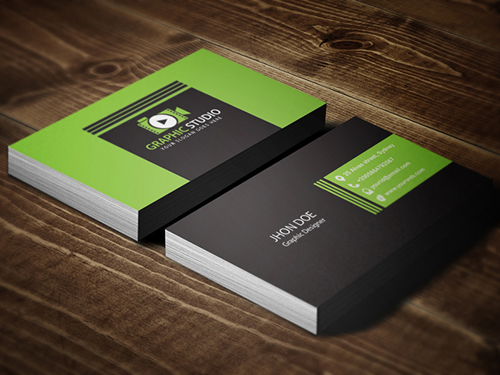 Stylish business cards design inspiration graphic design junction corporate business card template accmission Image collections