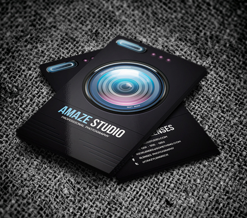 Stylish business cards design inspiration graphic design junction photographer lens business card colourmoves