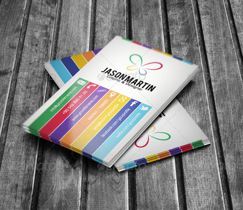Stylish business cards design inspiration graphic design junction colorful business card colourmoves