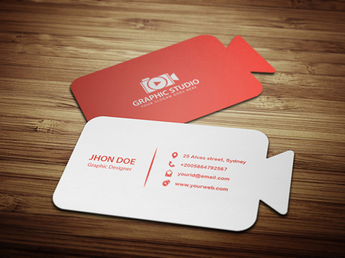 Camera Business Card Template