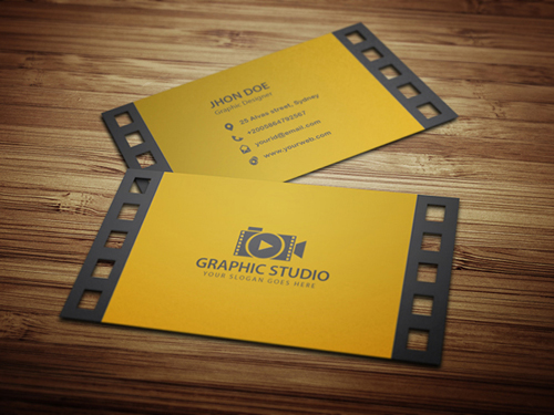 Filmography Business Card Design