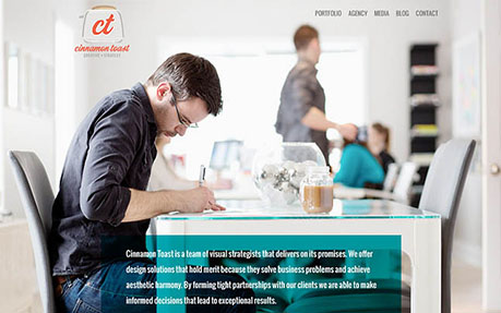 Cinnamon Toast web and graphic design agency website