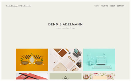 Dennis Adelmann web and graphic design agency website