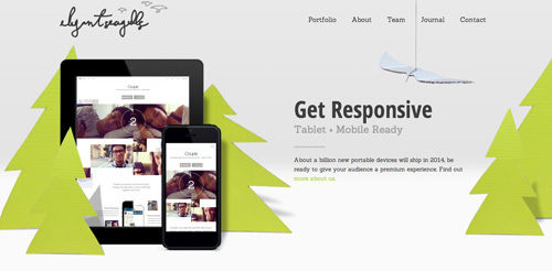 Elegant Seagulls web and graphic design agency website