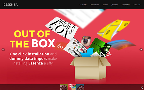 Essenza web and graphic design agency website