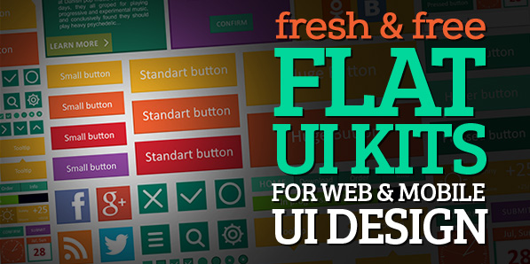 15 Fresh Free Flat UI Kits for Web & Mobile UI Design