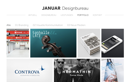 januar Designbureau web and graphic design agency website