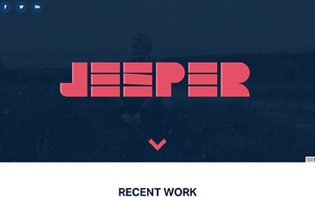 jesper landberg web and graphic design agency website