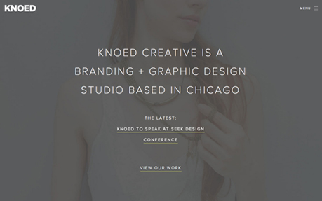 Knoed Creative web and graphic design agency website