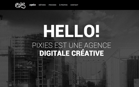 Pixies Agency web and graphic design agency website