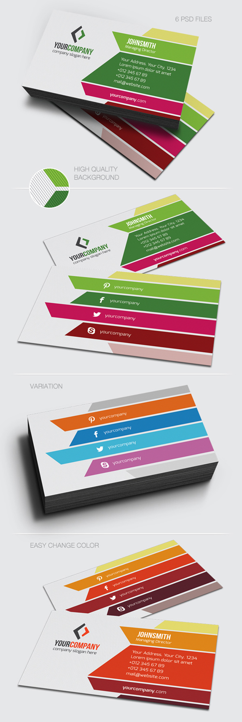 Corporate Business Cards Templates Design Graphic Design