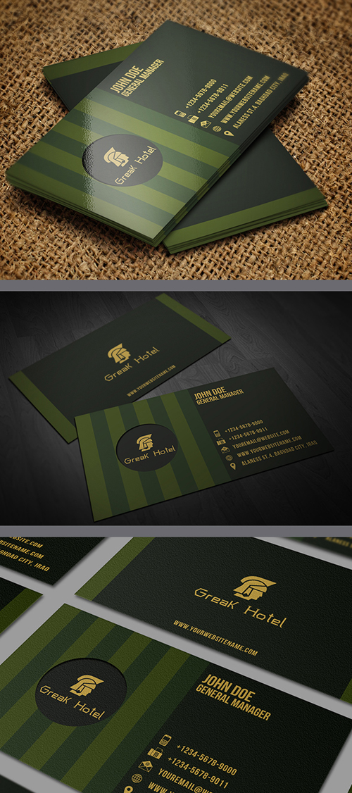 Greek Hotel Business Card Template