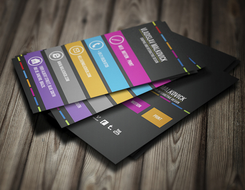 Free personal business card templates image collections business simple black personal business card template free vector in adobe corporate business cards templates design graphic wajeb