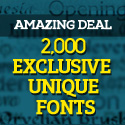 Post Thumbnail of Amazing Deal: Over 2,000 Exclusive Unique Fonts